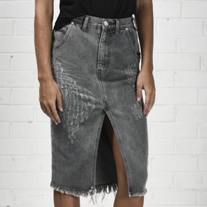 NWOT One Teaspoon Cadillac Distressed Denim Skirt